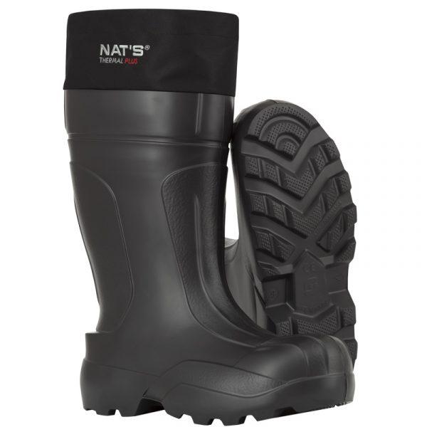 Botte imperméable en EVA avec chausson thermique | Noir | NAT'S | 1590
