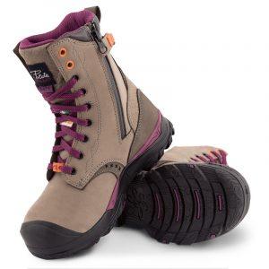 Waterproof work boots for women | Grey | P&F Workwear | PF648