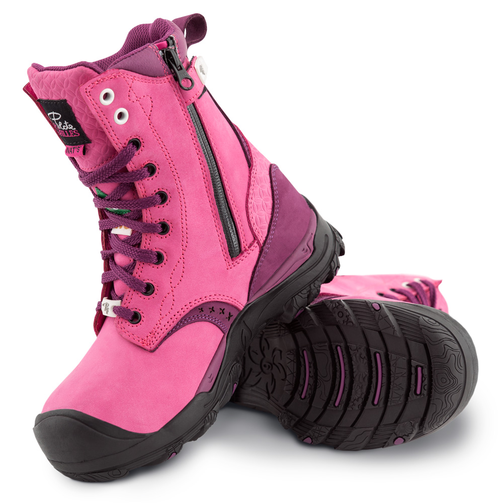 Waterproof work boots for women | Pink | P&F Workwear | PF648