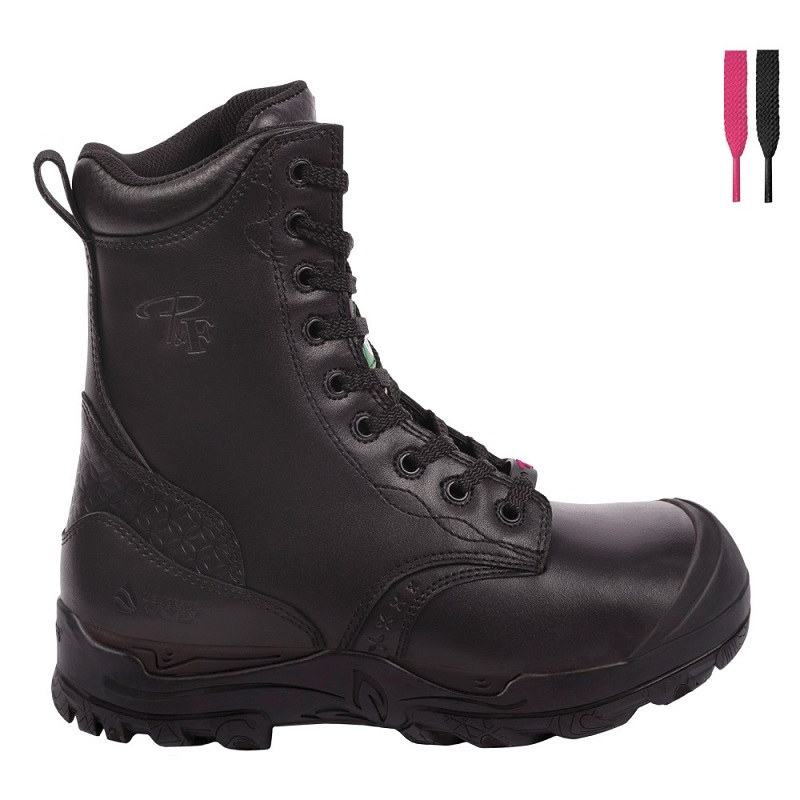 Waterproof work boots for women | Black | P&F Workwear | PF642