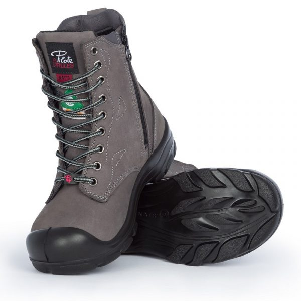 Work boots with zipper for women | Charcoal | P&F Workwear | S558