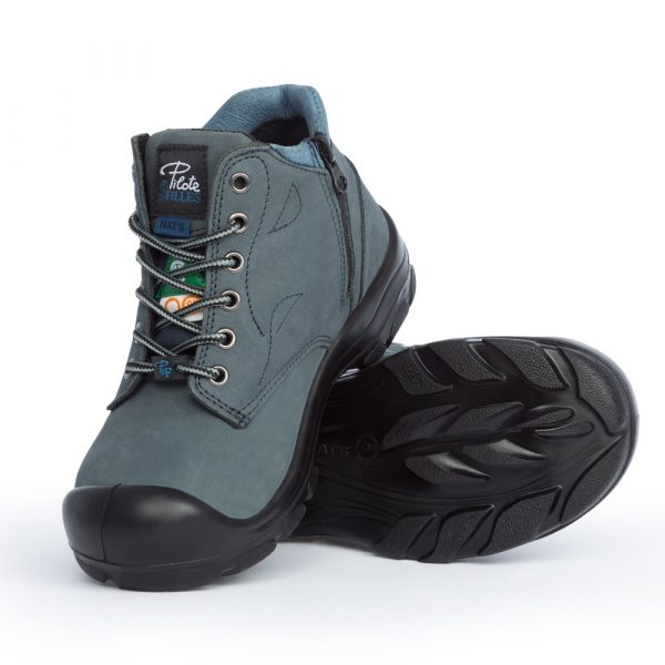 Work boots with zipper for women | Navy | P&F Workwear | S556
