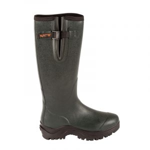 Men's rubber boots with nylon lining | Green | NAT'S | 4510