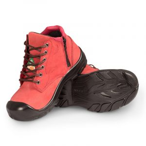 Work boots with zipper for women | Red | P&F Workwear | S556