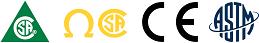 Approuvé CSA classe 1, diélectrique, CE et ASTM │CSA class 1, dielectric, CE and ASTM approved