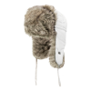Aviator style hat with fun fur lining | White | NAT'S | H200