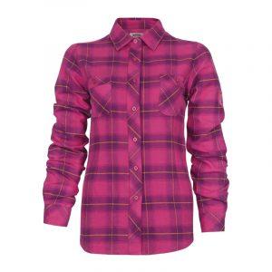 Chemise de travail en flanelle pour femme | Women's plaid flannel work shirt | Pilote et Filles
