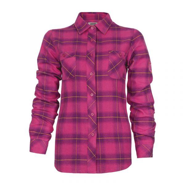 Women's plaid flannel work shirt | Pink-Purple | P&F Workwear | PF470
