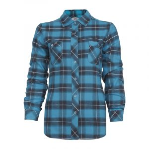 Women's plaid flannel work shirt | Turquoise | P&F Workwear | PF470
