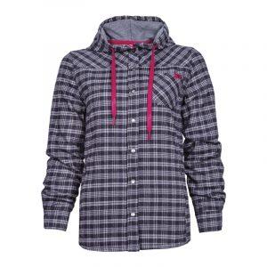 Chemise de travail en flanelle doublée pour femme | Women's lined flannel hooded work shirt | Pilote et Filles