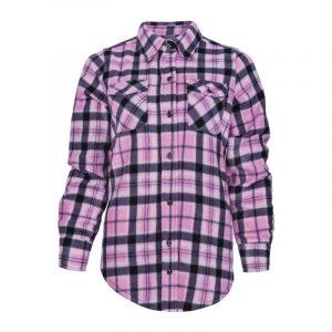 Chemise de travail en polar pour femme | Women's plaid fleece work shirt | Pilote et Filles