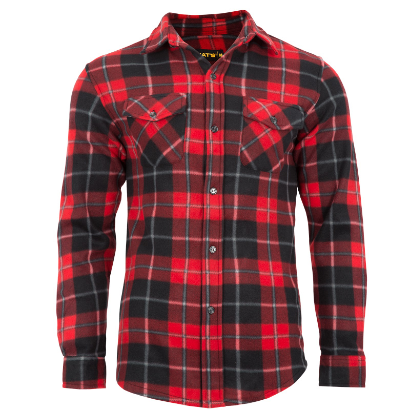 Men's polar fleece work shirt | Red | NAT'S | WK040
