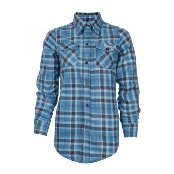 Polar fleece work shirt for women | Turquoise | P&F Workwear | PF420