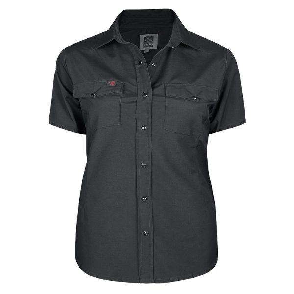 Chemise de travail extensible pour femme | Taille Plus | Noir | Pilote et Filles | PF435