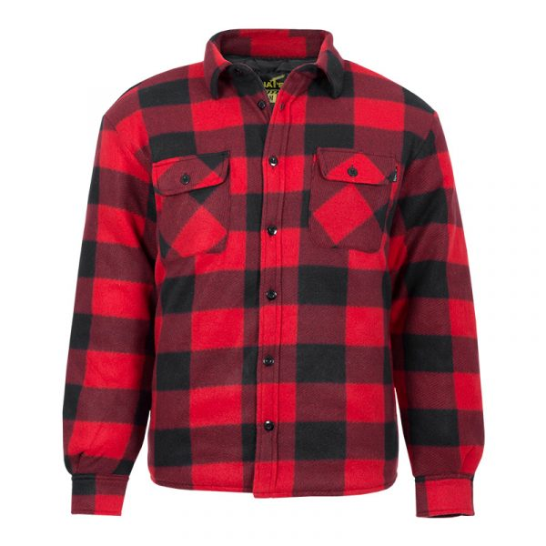Men's insulated work shirt |Red |NAT'S |WK055
