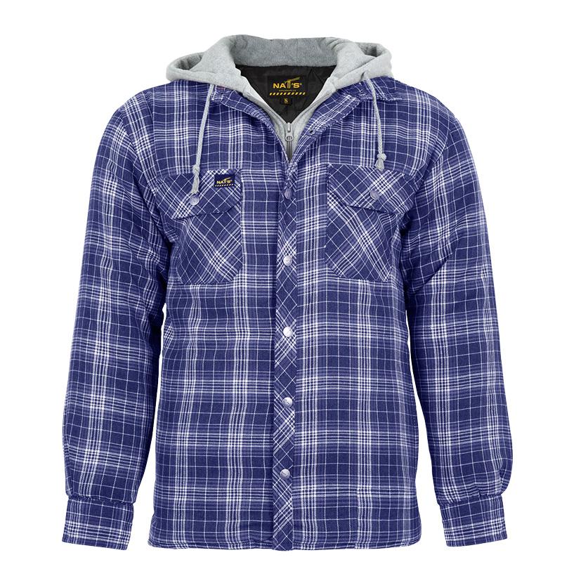 Men's padded work shirt | Blue | NAT'S | WK050