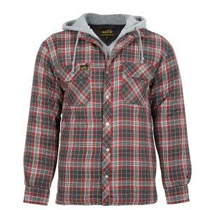 Chemise de travail isolée pour homme |Gris-Rouge |NAT'S |WK050