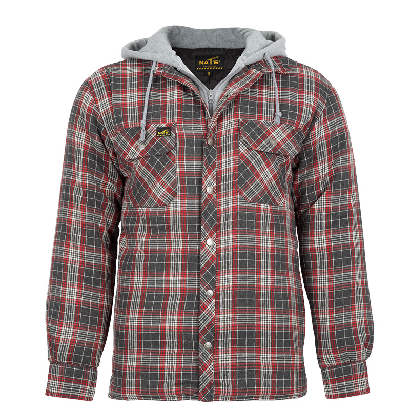 Men's padded work shirt | Red | NAT'S | WK050