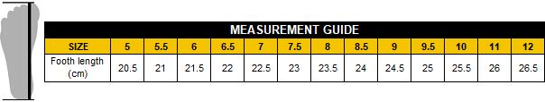 P&F Workwear - Footwear measurement guide