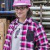Chemise de travail rembourrée pour femme | Framboise | Pilote et Filles | PF410