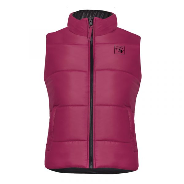Reversible and insulated sleeveless vest for women | Raspberry | P&F Workwear