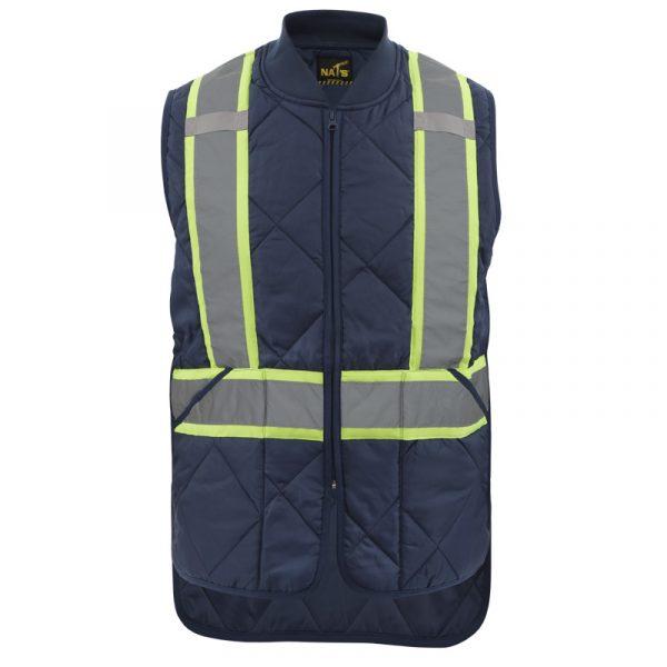High visibility padded vest for men | Navy | NAT'S | HV037