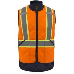 High visibility padded vest for men | Orange | NAT'S | HV037