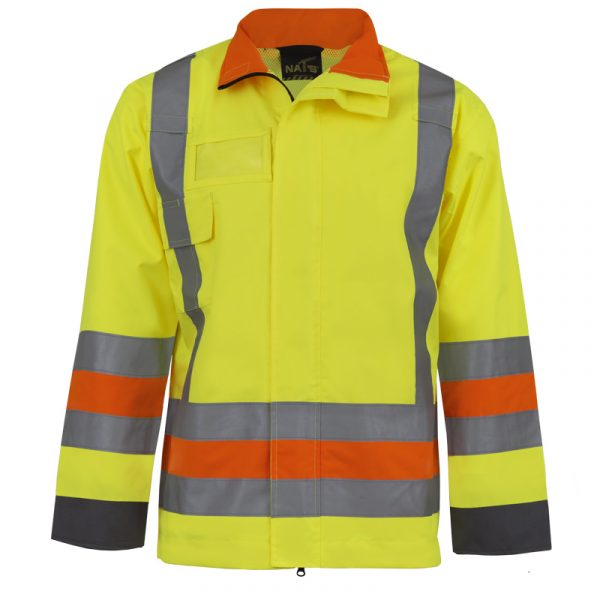 Manteau de signaleur haute visibilité avec bandes réfléchissantes | NAT'S | HV478J