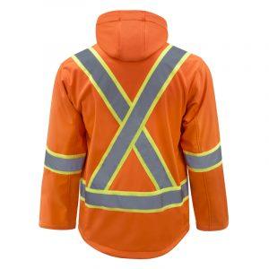 High visibility softshell jacket with reflective stripes | Orange | NAT'S | HV510