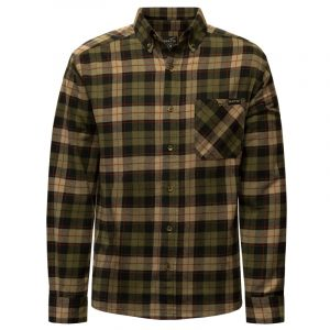 Men's flannel work shirt | Tan | NAT'S | WK471