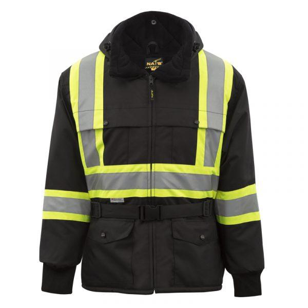 Manteau d'hiver haute visibilité | Noir | NAT'S | WK700