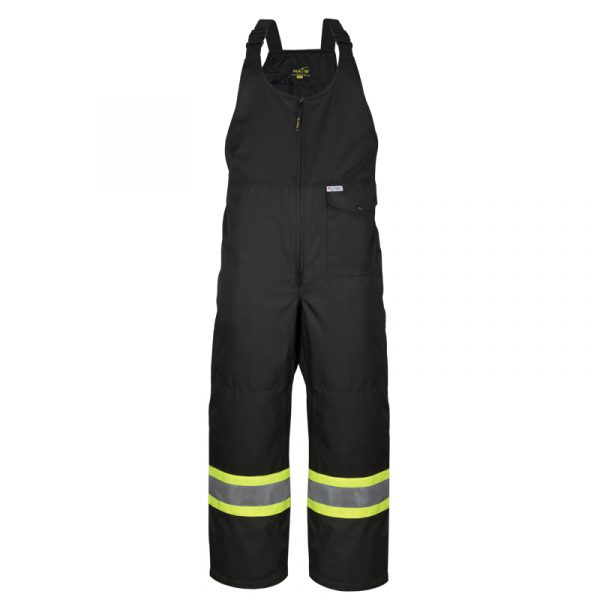 Men's high visibility insulated bib pant | Black | NAT'S | WK800