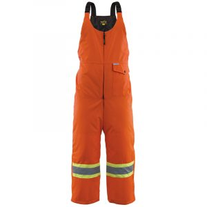 Men's high visibility insulated bib pant | Orange | NAT'S | WK800