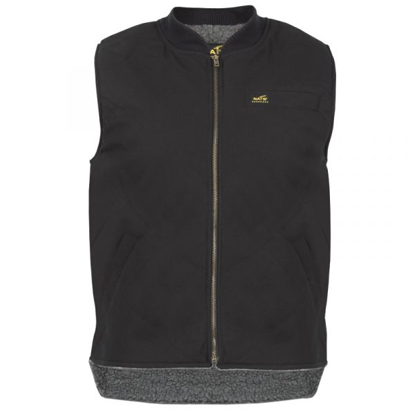 Men's lined work vest | Black | NAT'S | WR351