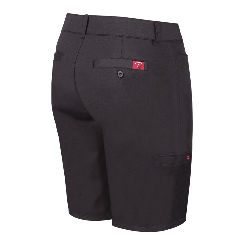 Stretch work bermuda pant for women | Black | P&F Workwear | PF800