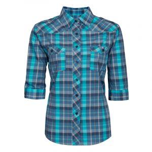 Chemise de travail en coton pour femme | Bleu | Pilote et Filles | PF452