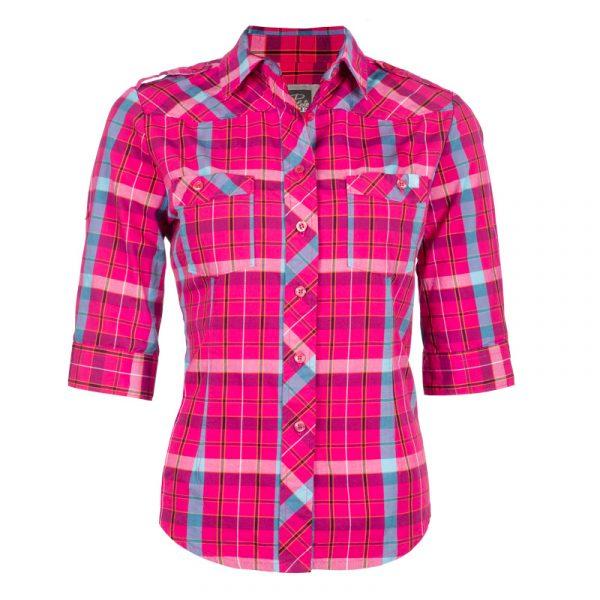 Chemise de travail en coton pour femme | Rose | Pilote et Filles | PF452