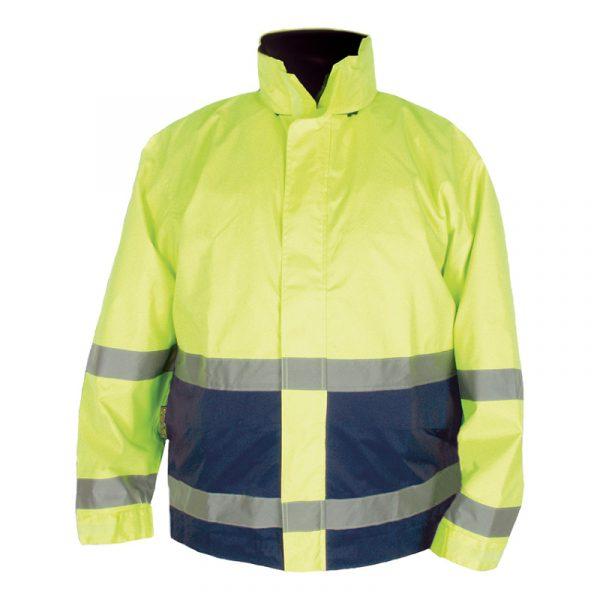 Manteau haute visibilité imperméable | Lime-Marine | NAT'S | N840J