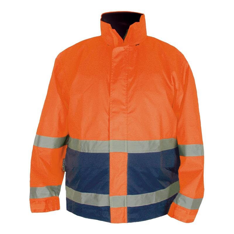 Manteau haute visibilité imperméable   Orange-Marine   NAT'S   N840J