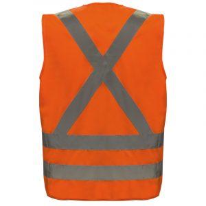 Dossard haute visibilité avec bandes réfléchissantes | Orange | NAT'S | N40V