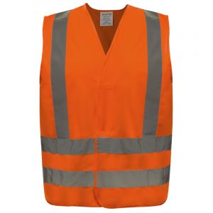 Safety vest with reflective stripes | Orange | NAT'S | N40V