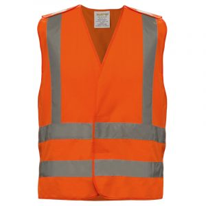 Safety vest with reflective stripes | Orange | NAT'S | N50V