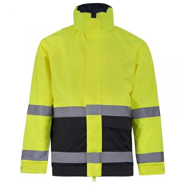 Manteau haute visibilité avec bandes réfléchissantes pour homme | Lime | NAT'S | N840J