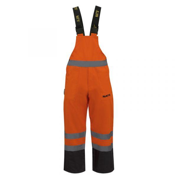 Salopette haute visibilité avec bandes réfléchissantes pour homme | Orange | NAT'S | N842P