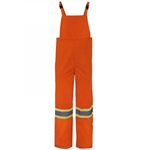 High visibility waterproof set with reflective stripes | Orange | NAT'S | N855JP