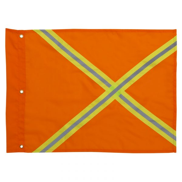 Safety flag with reflective stripes | Orange | NAT'S | N90F