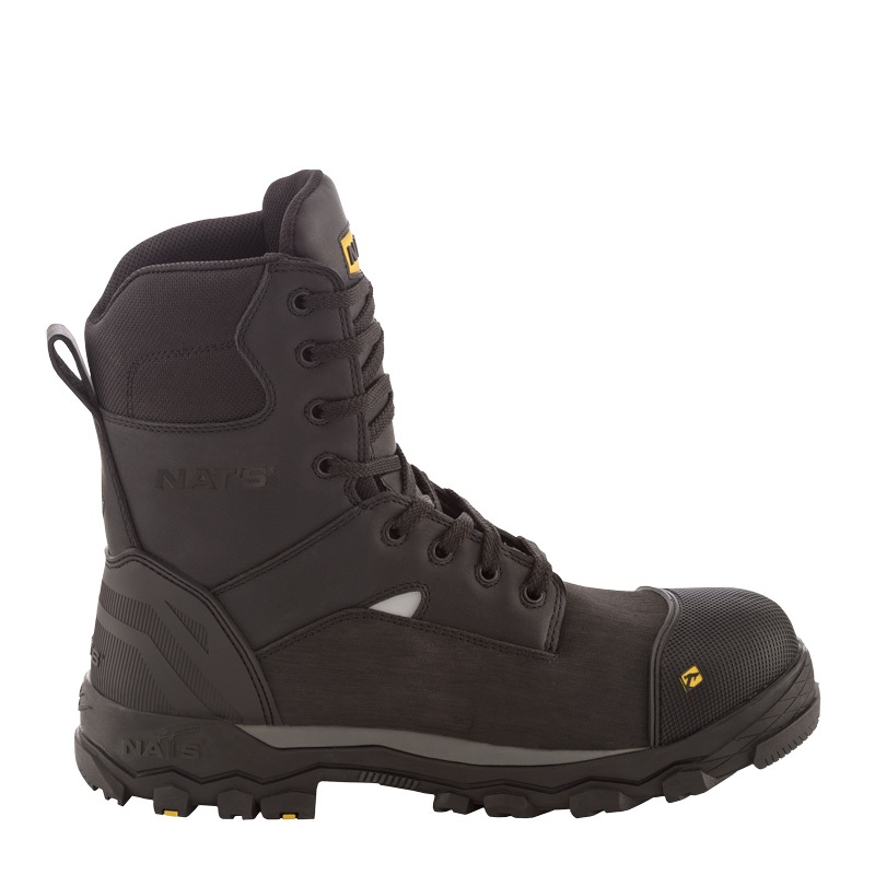 Waterproof work boots for men | Black | NAT'S | S715