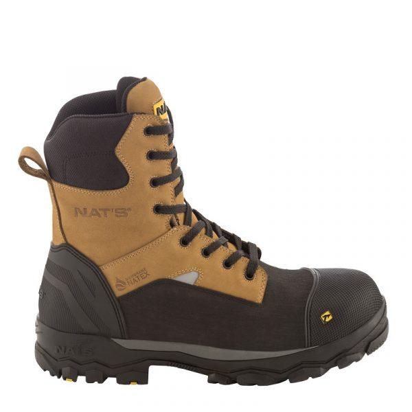 Waterproof work boots for men | Tan | NAT'S | S715