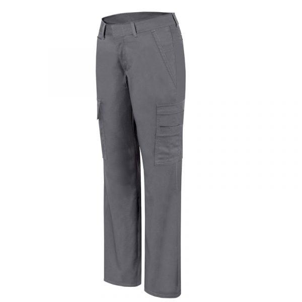 Pantalon de travail cargo extensible pour femme│Gris│Pilote et Filles│PF820