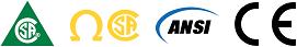 Approuvée CSA classe 1, ANSI, CE et diélectrique│CSA class 1, ANSI, CE and dielectric approved